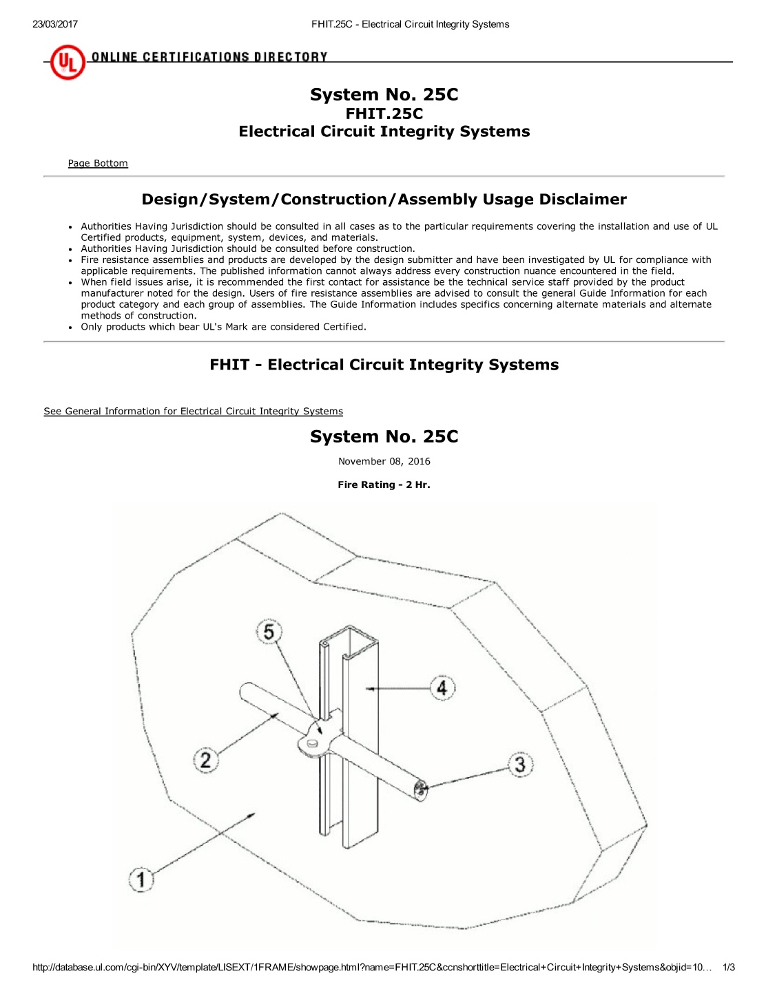 Fhit25c Electrical Circuit Integrity Systems